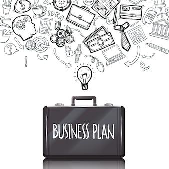 Doodles de negocios establecidos
