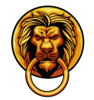Dor ornamento cabeza de león