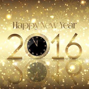 Dorado y brillante fondo de año nuevo vector gratuito