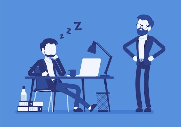 Dormir en el trabajo de oficina