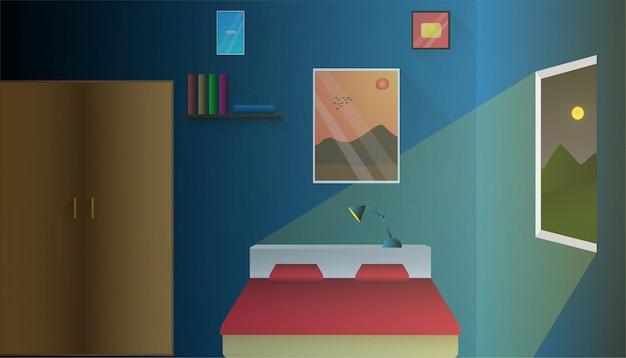Dormitorio para el fondo