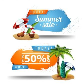 Dos banners de venta de verano para hacer clic.