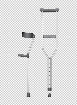 Dos bastones para minusválidos.