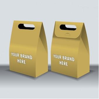 Dos cajas para comida rápida