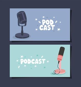 Dos carteles de podcast