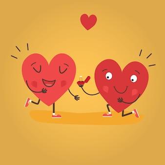 Dos corazones felices