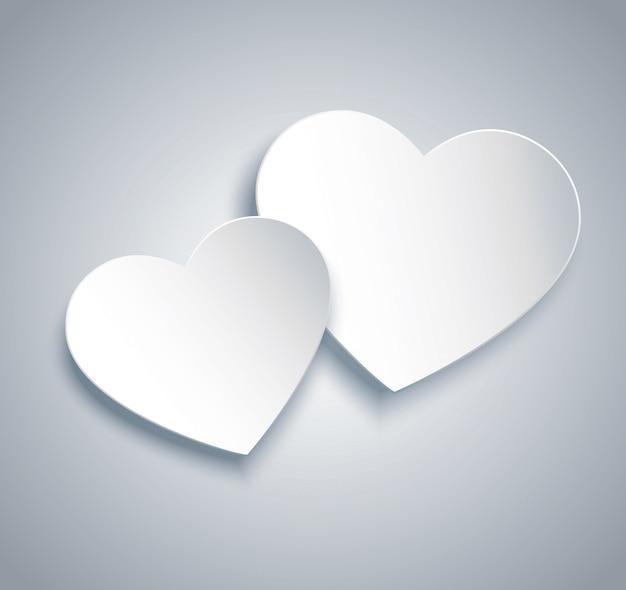 Dos corazones icono vector