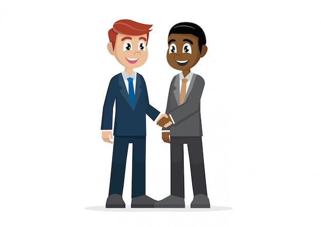 Dos hombres de negocios dándose la mano.