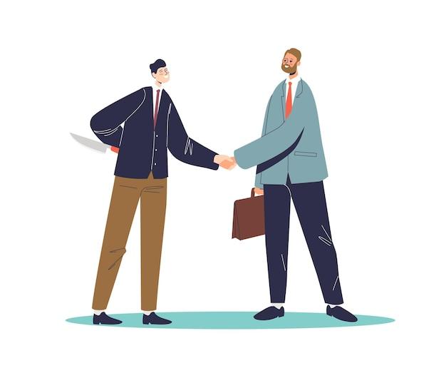 Dos hombres de negocios, sacudarir las manos
