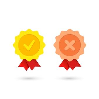 Dos medallas, una niega a la otra, representada en blanco.