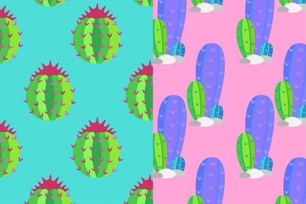 Dos patrones de cactus