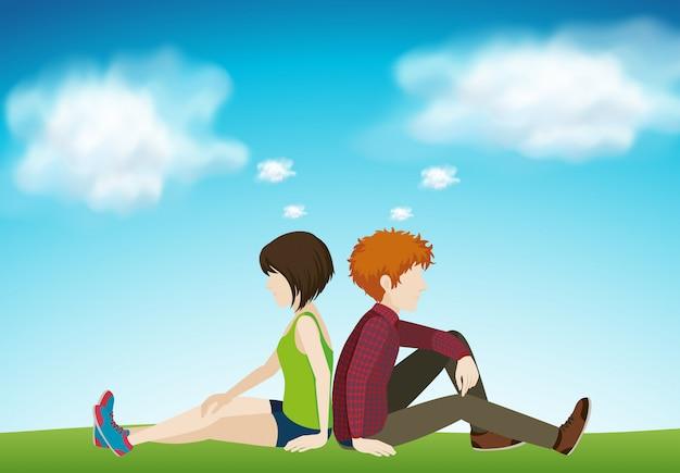Dos personas sentadas juntas
