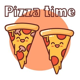 Dos piezas de pizza