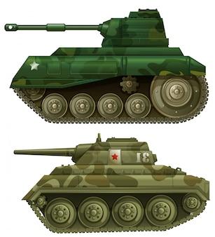 Dos tanques blindados