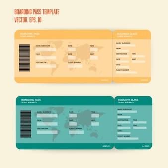 Dos tarjetas de embarque