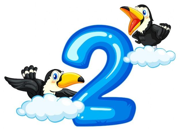 Dos tucanes y número dos