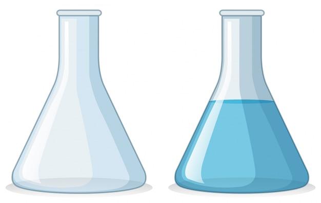 Dos vasos con y sin agua
