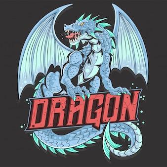 Dragon alas cara de bestia