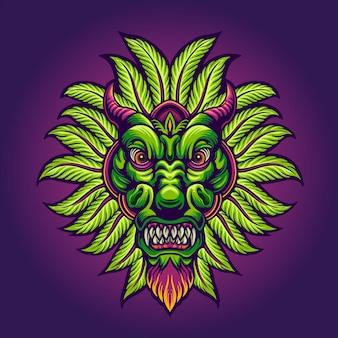 Dragón canabian verde