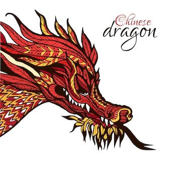 Dragón dibujado a mano