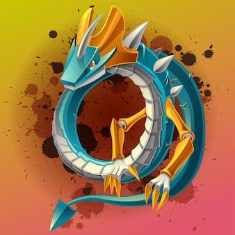 El dragón es un fantástico personaje animal en un cuento de hadas.