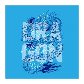 Dragon hand drawing vector illustration