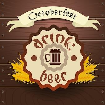 Drink beer label oktoberfest festival banner