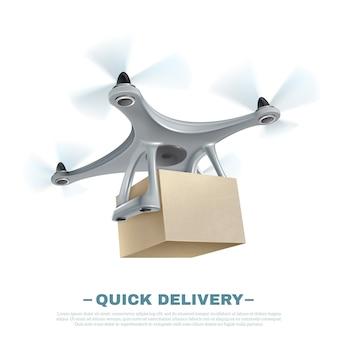 Dron de entrega realista