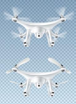 Drone volador realista