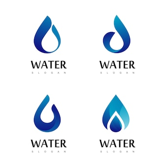 Drop water logo design vector