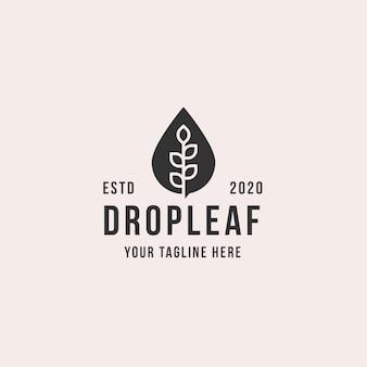 Dropleaf logo premium corporativo