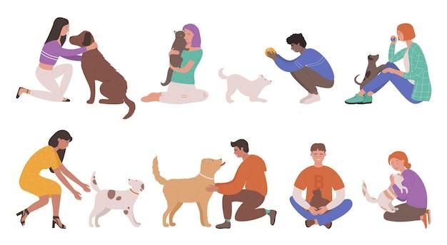 Dueños de mascotas personas