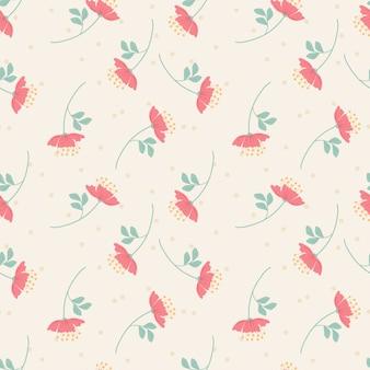 Dulce flor rosa de patrones sin fisuras. concepto de flor dulce