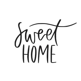 Dulce hogar. mano con letras