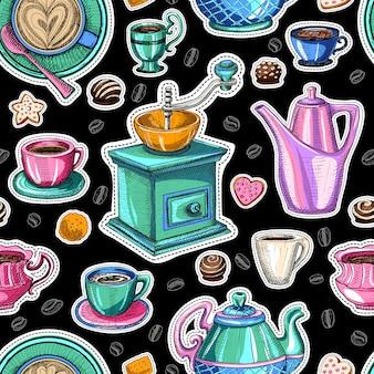 Dulce de patrones sin fisuras de café