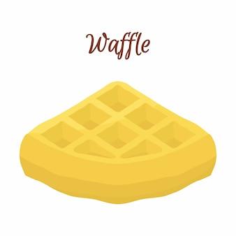 Dulce waffle belga para el desayuno