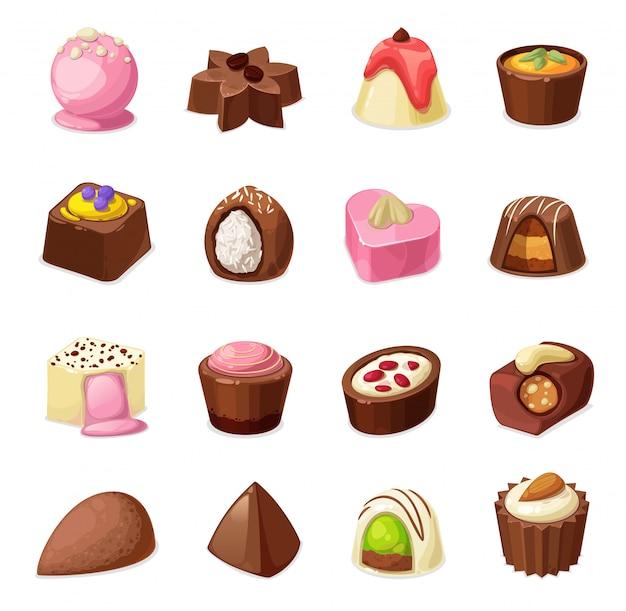 Dulces de chocolate y dulces, postres