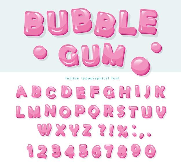 Dulces letras y números de abc
