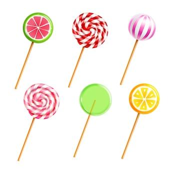 Dulces lollipops dulces set