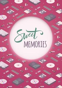 Dulces recuerdos decorando diseño