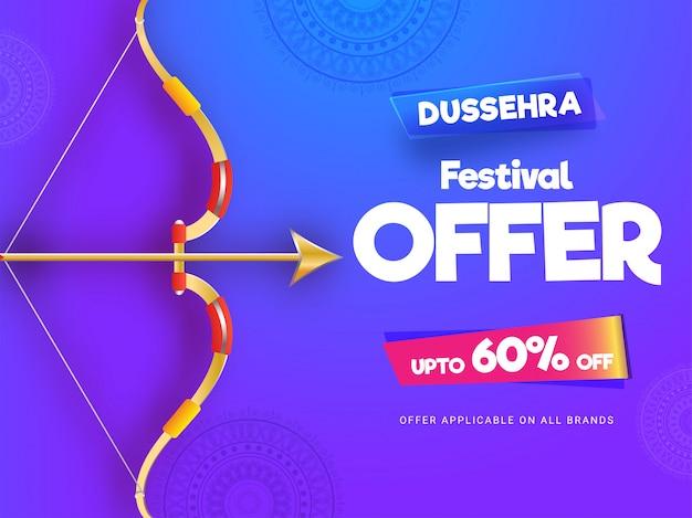 Dussehra festival sale banner o cartel de diseño.