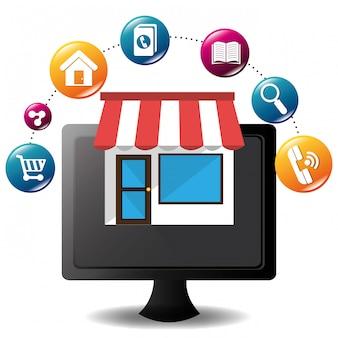 E-commerce y diseño de aplicaciones móviles de mercado.