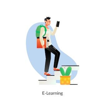 E-learning education. cursos de capacitación en línea