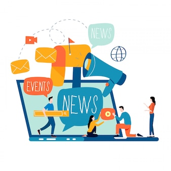 E-mail noticias, suscripción y promoción