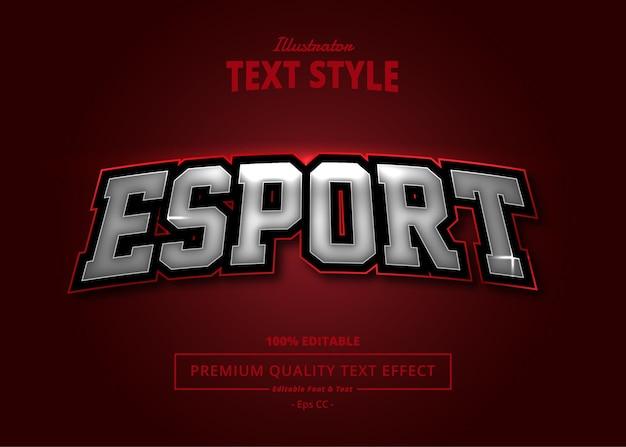 E sport efecto de texto de illustrator