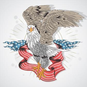 Eagle de la bandera de los eeuu