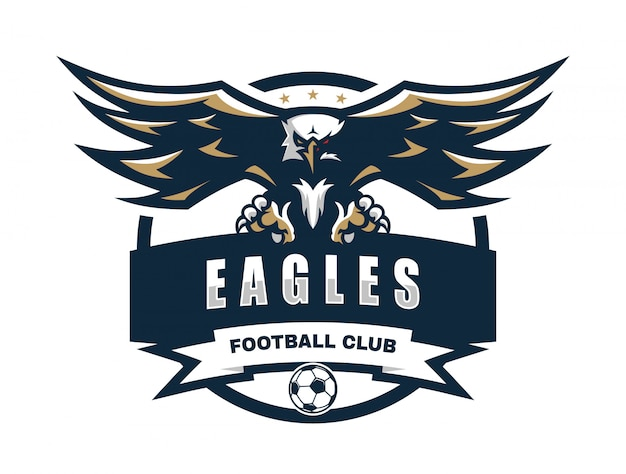 Eagle football club vector logo template