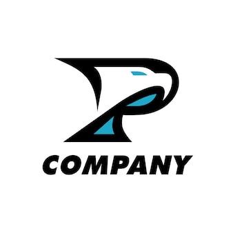 Eagle p letter logotipo
