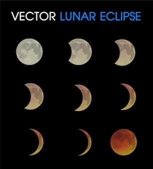 Eclipse lunar de la luna.