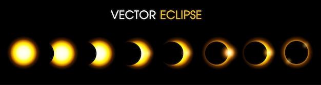 Eclipse solar del sol. ilustración